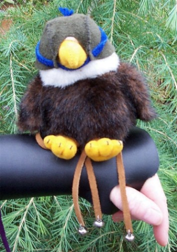 Toy Falcon with Leather Glove